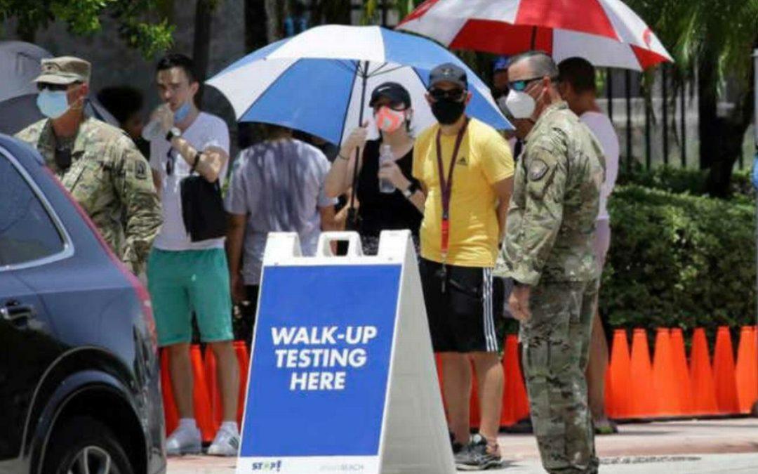 Florida y Miami-Dade reportan récords de casos de Covid-19 en las últimas 24 horas